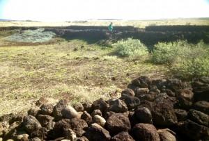 binnen- en buitenmuur, binnenplaats Kamehameha
